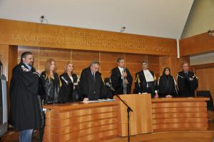 un momento della cerimonia di giuramento